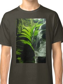Mossy Waterfall - Nature Photography Classic T-Shirt