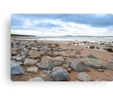 desolate rocky beal beach Canvas Print