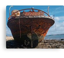 The stern of the Portlairge, Saltmills, County Wexford Canvas Print
