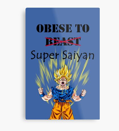 Obese to Super Saiyan Metal Print