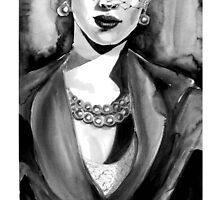 Inspired by Dior. Ink  by Kristina Fekhtman