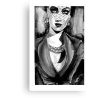 Inspired by Dior. Ink  Canvas Print