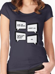 Sudo Give Me Five Bucks - Linux Geek Humor  Women's Fitted Scoop T-Shirt
