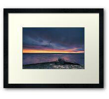 Sunrise Ramp. Framed Print