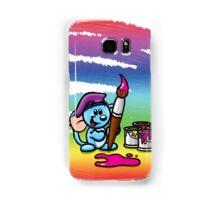 HeinyR- Blue Mouse Painter Samsung Galaxy Case/Skin