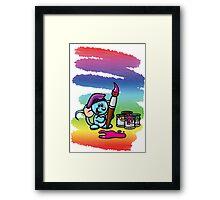 HeinyR- Blue Mouse Painter Framed Print