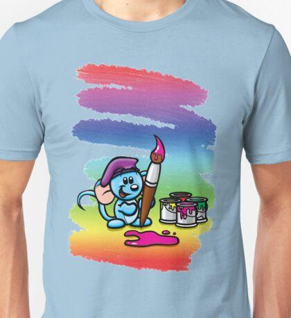 HeinyR- Blue Mouse Painter Unisex T-Shirt