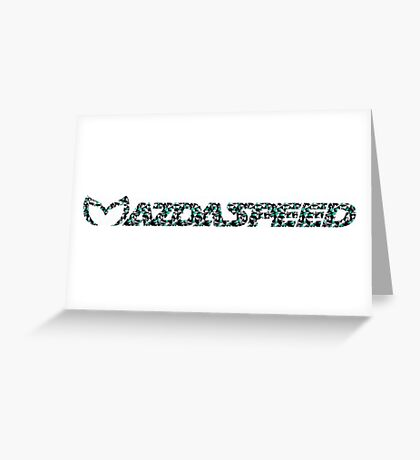 Mazdaspeed Digital Geometric Greeting Card