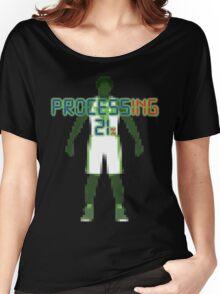 Processing 21% (Pixel Green) Women's Relaxed Fit T-Shirt