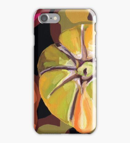 Heirloom Tomatoes semi abstract vegetable still life iPhone Case/Skin