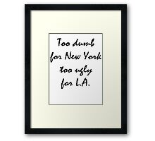 L.A and New York Sticker Framed Print