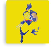 Project Silhouette 2.0: Wolverine Canvas Print