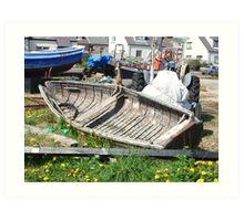 Boat wreck Cullercoats Art Print