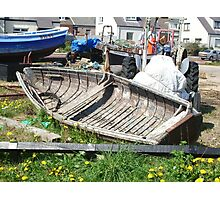 Boat wreck Cullercoats Photographic Print