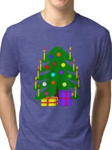 Brightly colored cartoon style christmas Tri-blend T-Shirt