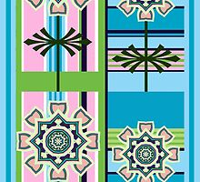 Retro patterns and fantasy flowers by walstraasart