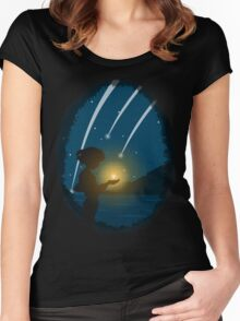 Falling Stars Women's Fitted Scoop T-Shirt