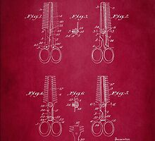 Vintage Cutting Shears Patent 1920 by Patricia Lintner