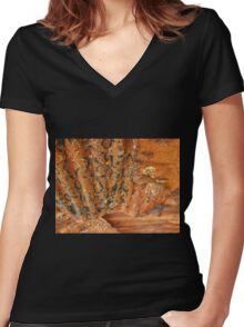 Aussie Corrugated Galvanised Iron #35 Women's Fitted V-Neck T-Shirt
