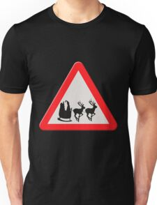 UK Warning sign Christmas ahead Unisex T-Shirt