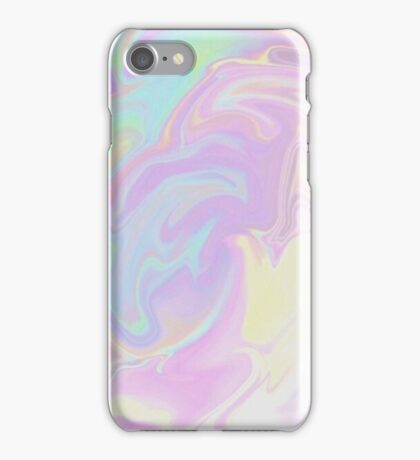Pink Cotton Candy Holographic iPhone Case/Skin