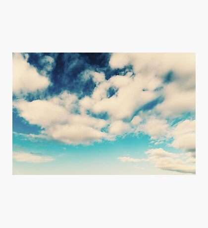 White Soft Clouds On Blue Turquoise Sky Photographic Print