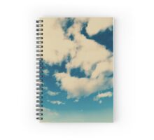 White Soft Clouds On Blue Turquoise Sky Spiral Notebook