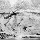 The Last Moments of an Old Sailing Ship in the 19th century by Dennis Melling
