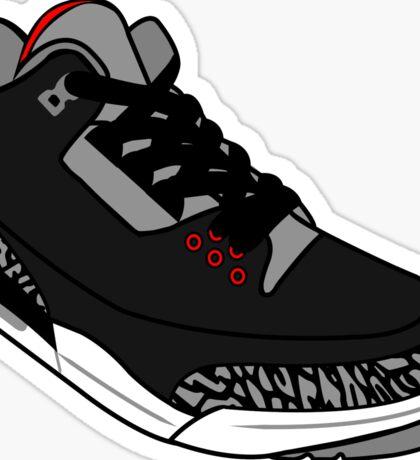 Black Cement 3s Sticker