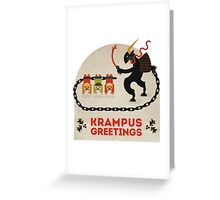 Krampus Greetings Greeting Card