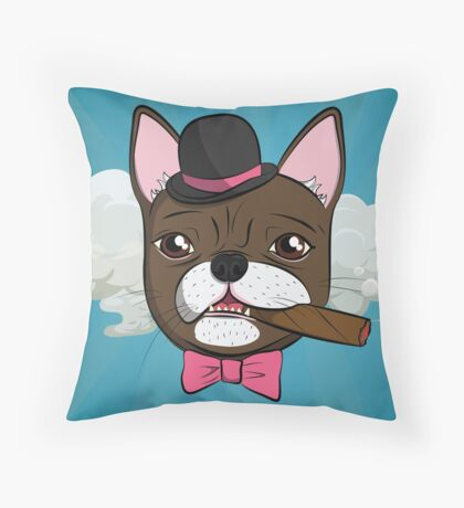 But she is quite dapper... Throw Pillow