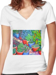 Down the Garden Path Women's Fitted V-Neck T-Shirt