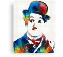 Charlie Chaplin Art - Oh Charlie - By Sharon Cummings Canvas Print