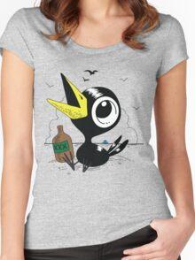 Drinky Crow! DOOK DOOK DOOK! Women's Fitted Scoop T-Shirt
