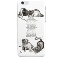 Ode To A Rat iPhone Case/Skin