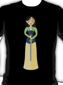 Symmetrical Princesses: Mulan T-Shirt