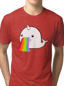 Narwhal Goes Bleh Tri-blend T-Shirt