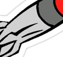 Cartoon Rocket Flying Sticker