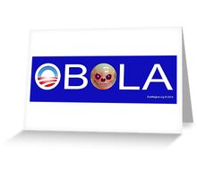 Obola with Bowling Ball Greeting Card