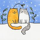 Christmas Cats and a Mistletoe Hat by zoel