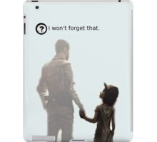 I won't forget this. iPad Case/Skin