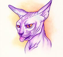 Sphynx cat #02 by PaperTigressArt
