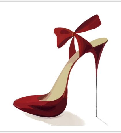 Red High Heels Sticker
