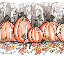 Watercolor Pumpkins by athertoncustoms