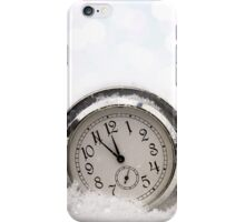 Watch lying in the snow iPhone Case/Skin