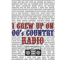 I Grew Up On 00's Country Radio (white phone case) by For The Country Record