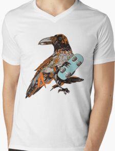 Crow boarding Mens V-Neck T-Shirt