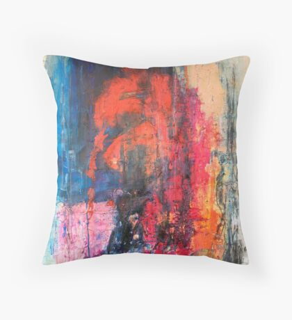Blocks - India Throw Pillow