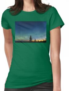 Northern Morning Light Womens Fitted T-Shirt