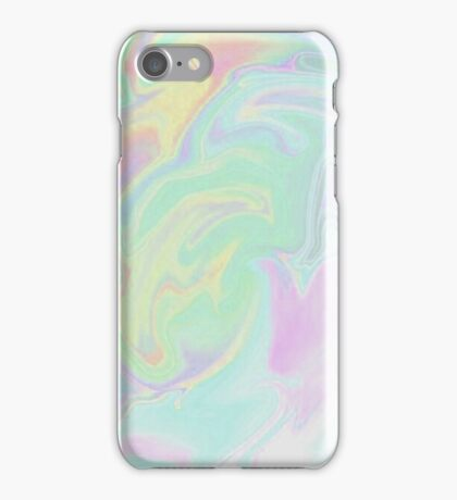 Blue Cotton Candy Holographic iPhone Case/Skin